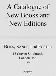 A Catalogue of New Books and New Editions, 1896