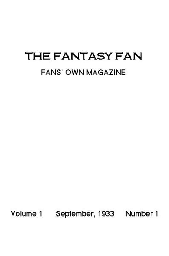 The Fantasy Fan September 1933 The Fan's Own Magazine