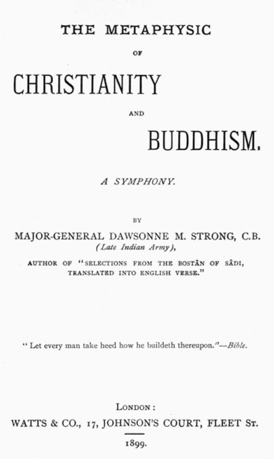 The Metaphysic of Christianity and Buddhism A symphony