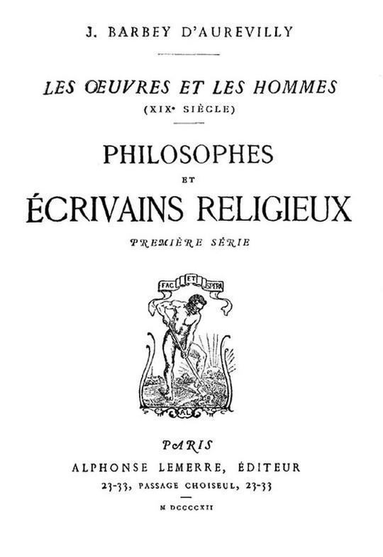Philosophes et Écrivains Religieux