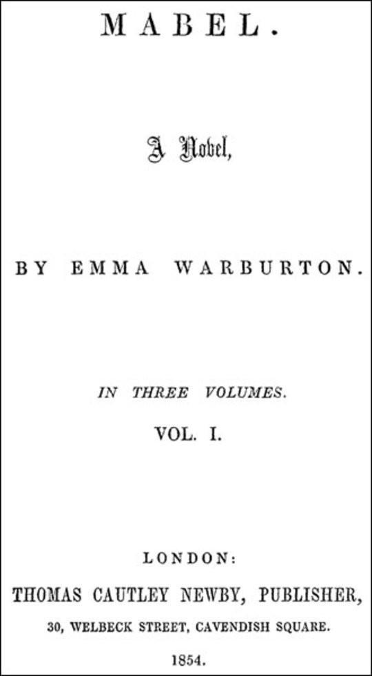 Mabel, Vol. I (of 3) A Novel