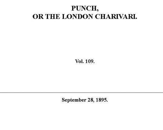 Punch or the London Charivari, Vol. 109, September 28, 1895