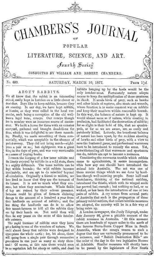 Chambers's Journal of Popular Literature, Science, and Art, No. 689 March 10, 1877