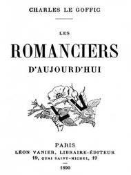 Les Romanciers d'Aujourd'hui
