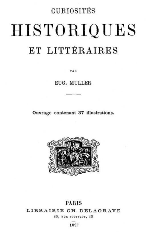 Curiosités Historiques et Littéraires