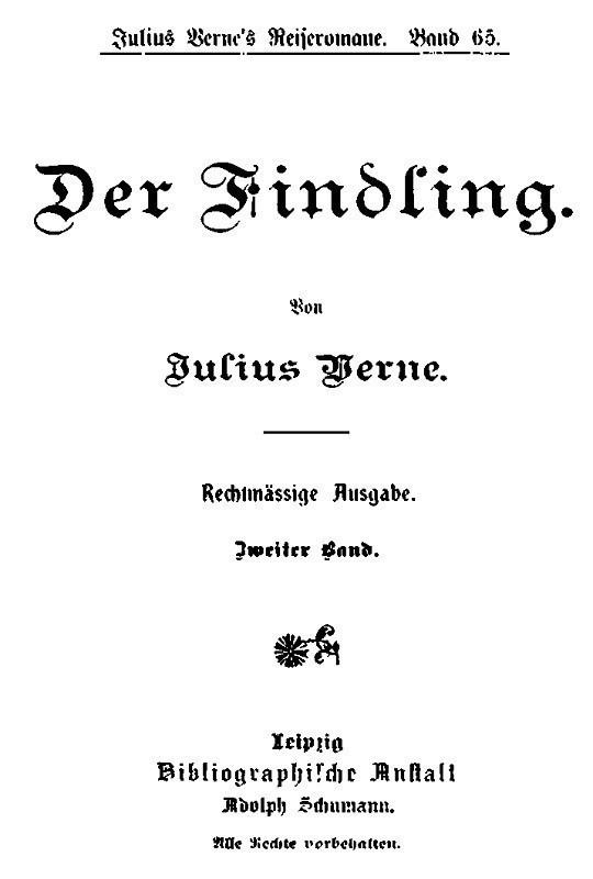 Der Findling. Zweiter Band.