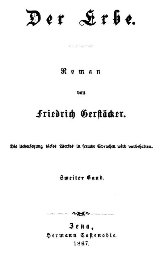 Der Erbe. Zweiter Band.