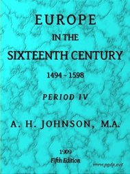 Europe in the Sixteenth Century 1494-1598, Fifth Edition Period IV (of 8), Periods of European History