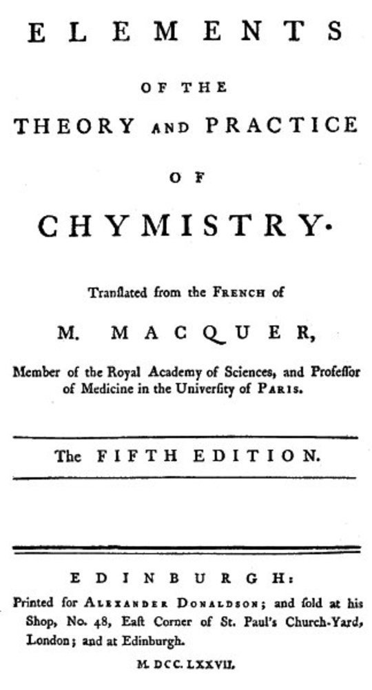 Elements of the Theory and Practice of Chymistry, 5th ed.
