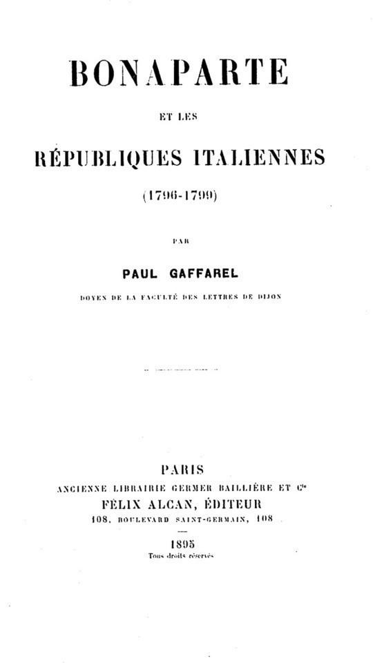 Bonaparte et les Républiques Italiennes (1796-1799)