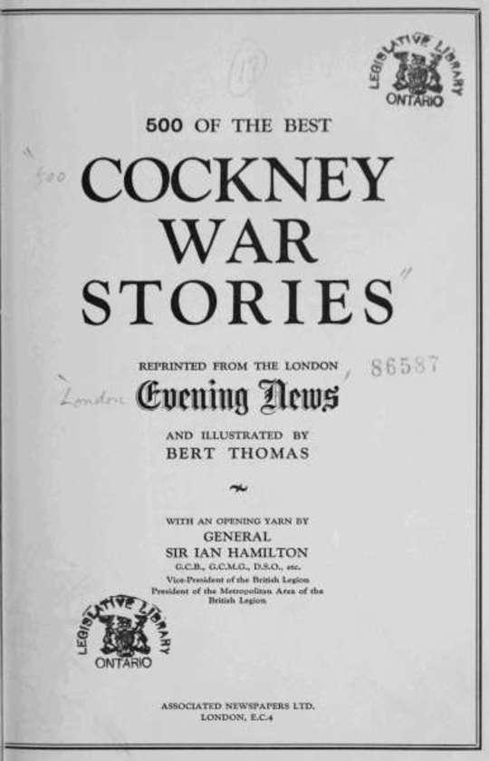 500 of the Best Cockney War Stories