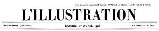 L'Illustration, No. 3240, 1 Avril 1905