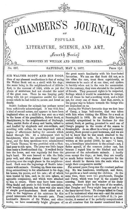 Chambers's Journal of Popular Literature, Science, and Art, No. 697 May 5, 1877