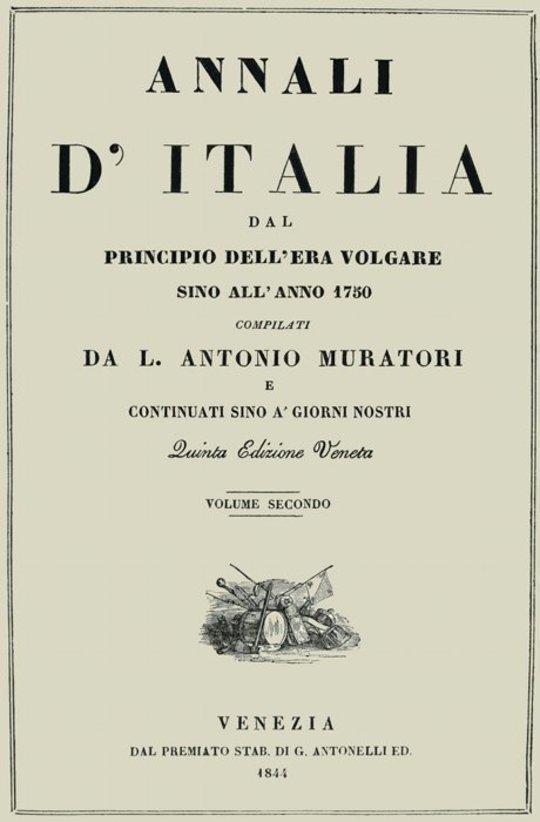 Annali d'Italia, vol. 2 dal principio dell'era volgare sino all'anno 1750