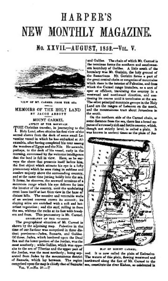 Harper's New Monthly Magazine, No. XXVII, August 1852, Vol. V