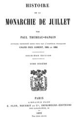 Histoire de la Monarchie de Juillet (Volume 6 / 7)