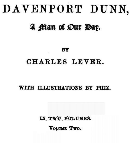 Davenport Dunn, a Man of Our Day. Volume 2 (of 2)