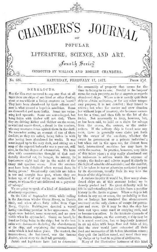 Chambers's Journal of Popular Literature, Science, and Art, No. 686 February 17, 1877