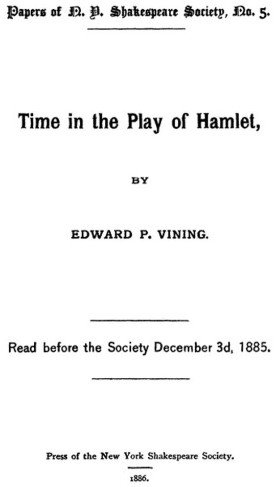 Time in the Play of Hamlet