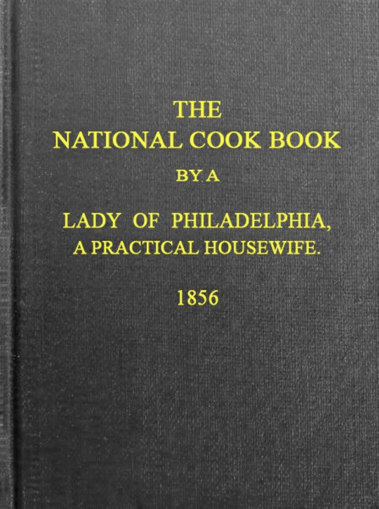 The National Cook Book, 9th ed.