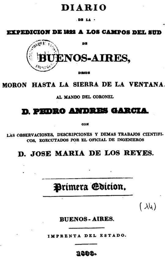 Diario de la expedicion de 1822 a los campos del sud de Buenos Aires Desde Moron hasta la Sierra de la Ventana