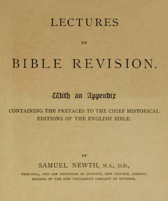 Lectures on Bible Revision