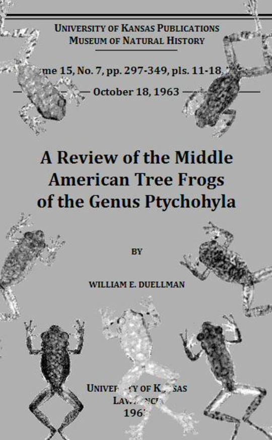 A Review of the Middle American Tree Frogs of the Genus Ptychohyla