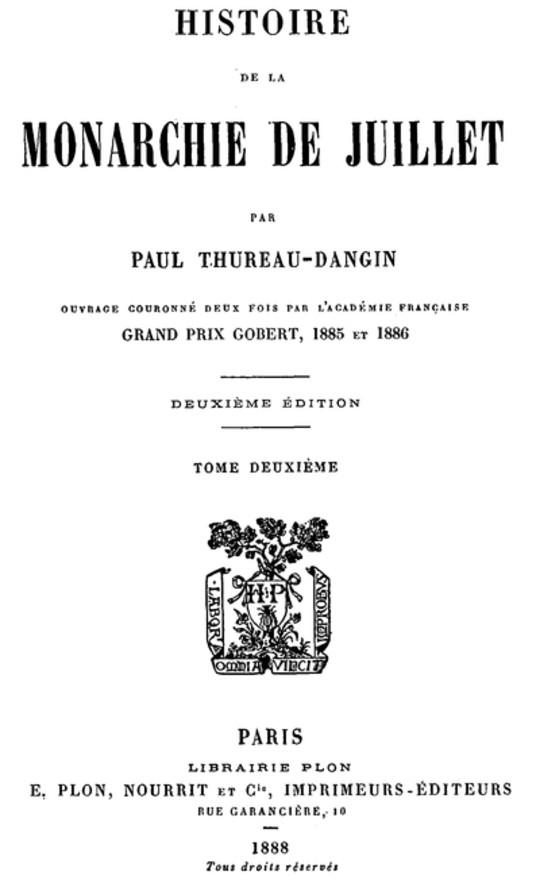 Histoire de la Monarchie de Juillet (Volume 2 / 7)