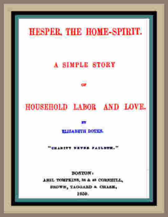 Hesper, the Home-Spirit A simple story of household labor and love