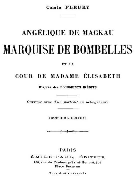 Angélique de Mackau, Marquise de Bombelles et la Cour de Madame Élisabeth