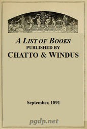 A List of Books Published by Chatto & Windus, September 1891