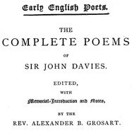 The Complete Poems of Sir John Davies. Volume 1 of 2.