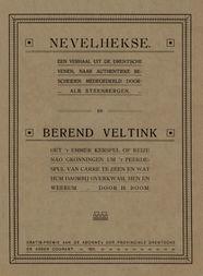 Nevelhekse een verhaal uit de Drentsche venen naar authentieke bescheiden medegedeeld
