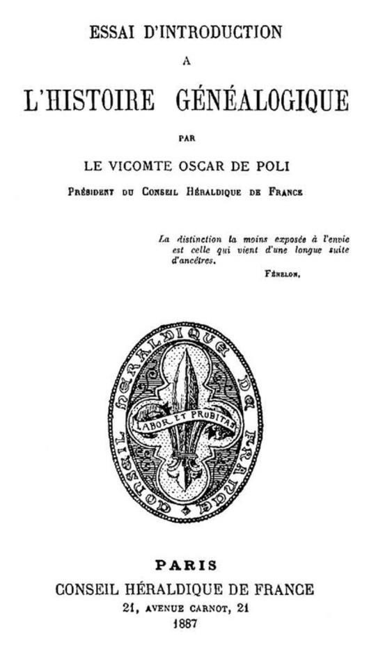 Essai d'Introduction à l'Histoire Généalogique