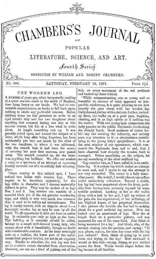 Chambers's Journal of Popular Literature, Science, and Art, No. 685 February 10, 1877