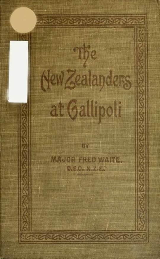 New Zealanders at Gallipoli