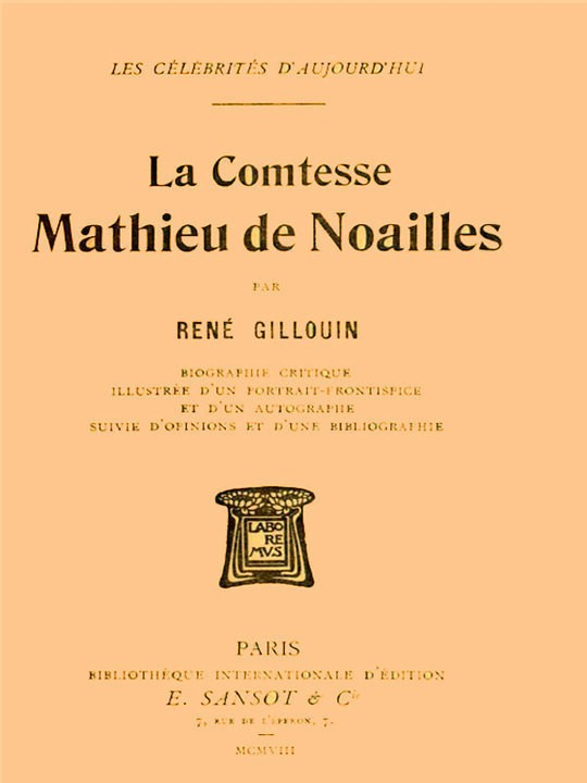 La Comtesse Mathieu de Noailles