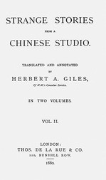Strange Stories from a Chinese Studio vol. II (of 2)