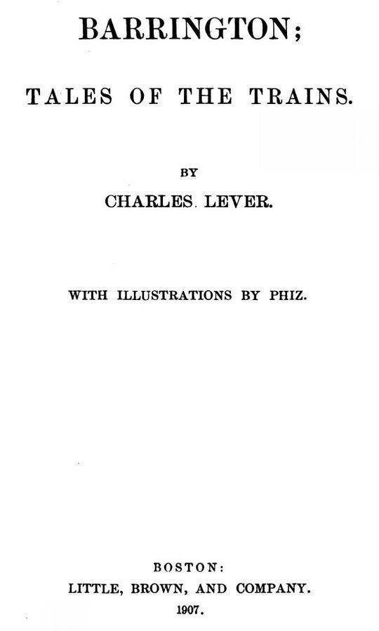 Barrington. Volume 2 (of 2)