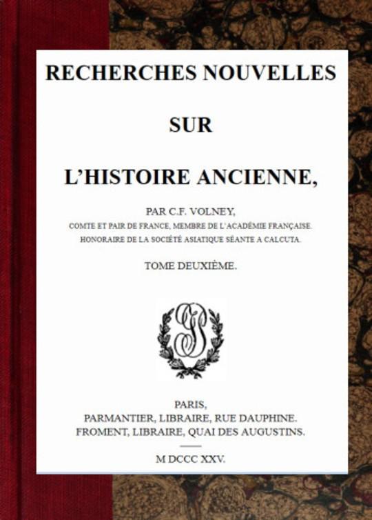 Oeuvres, Tome VI Recherches nouvelles sur l'histoire ancienne, tome II