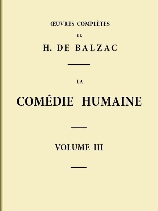 La Comédie humaine - Volume 03
