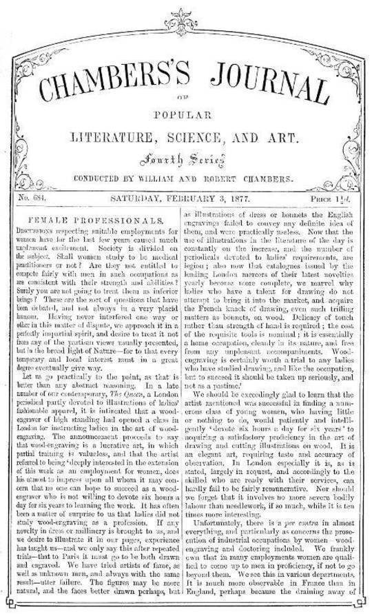 Chambers's Journal of Popular Literature, Science, and Art, No. 684 February 3, 1877
