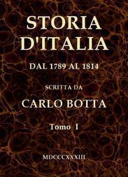 Storia d'Italia dal 1789 al 1814, tomo I