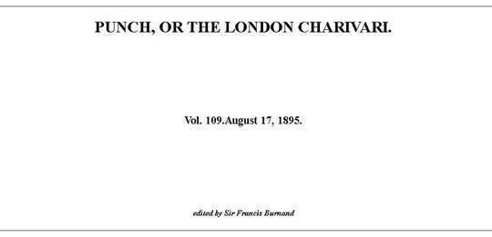 Punch or the London Charivari, Vol. 109, August 17, 1895