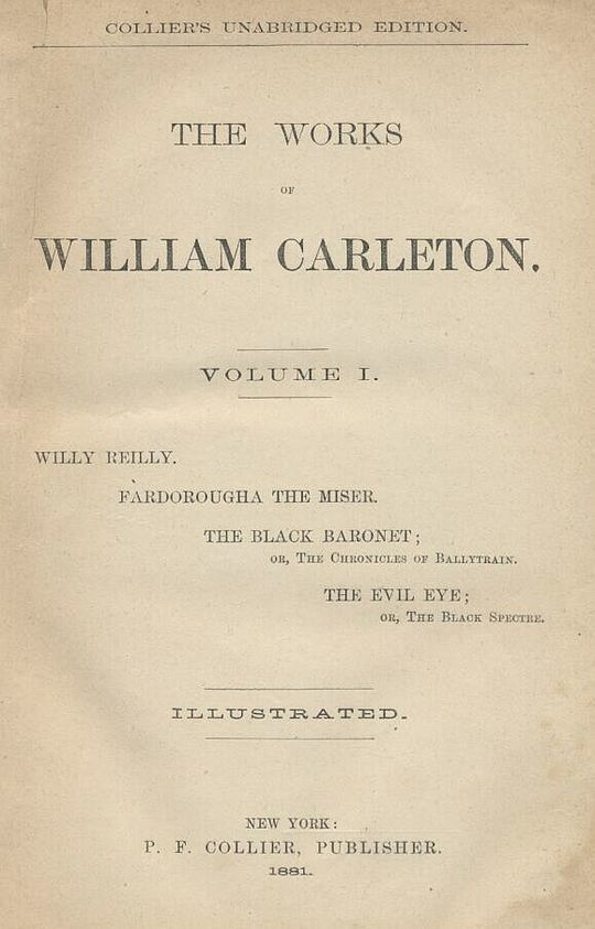 The Evil Eye; Or, The Black Spector The Works of William Carleton, Volume One