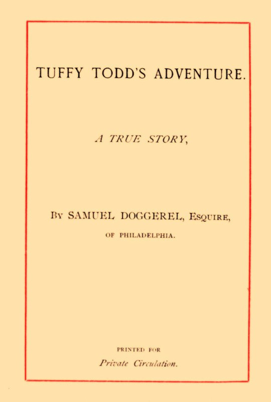Tuffy Todd's Adventure A True Story