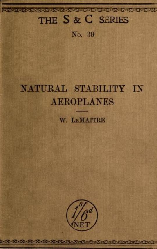 Natural Stability and the Parachute Principle in Aeroplanes