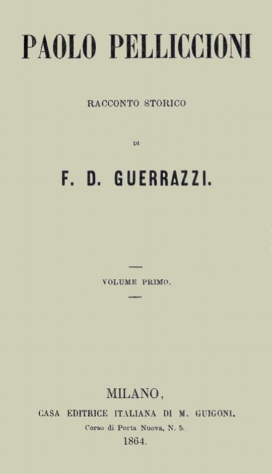 Paolo Pelliccioni, Volume I (of 2)