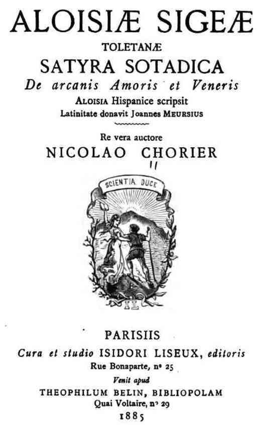 Aloisiæ Sigeæ Toletanæ Satyra Sotadica de arcanis Amoris et Veneris
