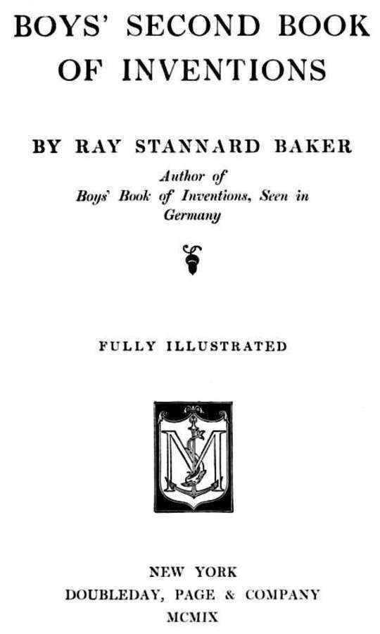 Boys' Second Book of Inventions